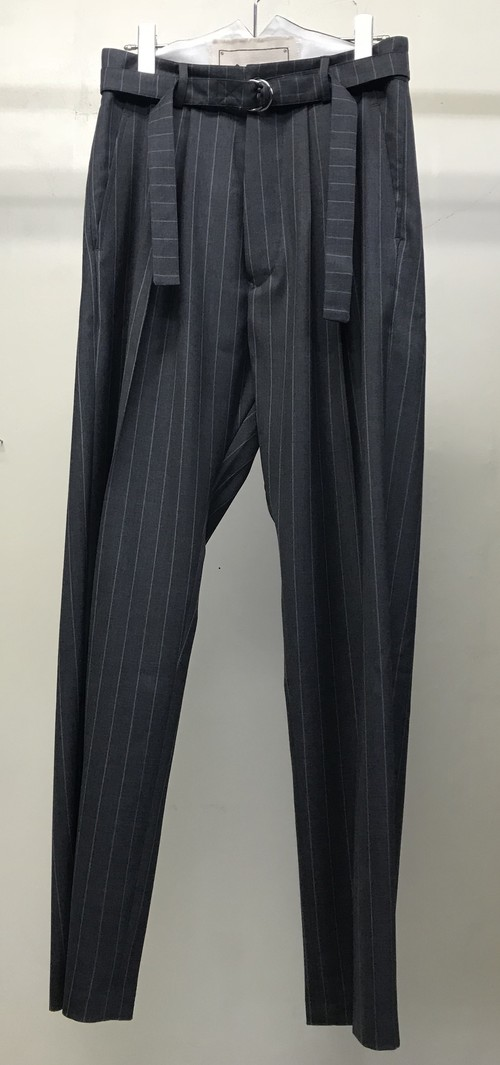 ALEX MULLINS PINSTRIED PEGSTOP TROUSERS