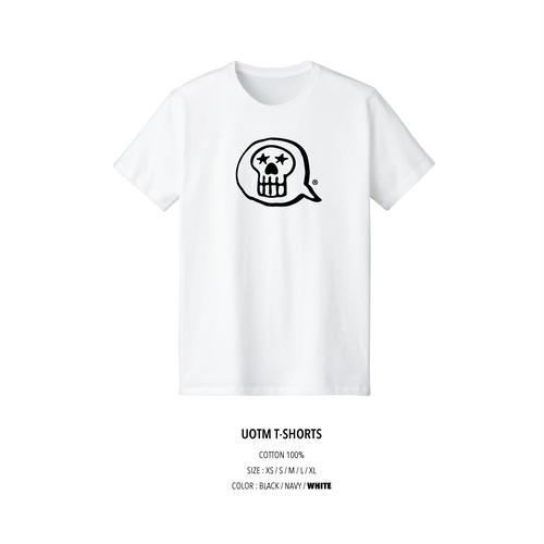 unfudge SKULL TM T-SHORTS / WHITE
