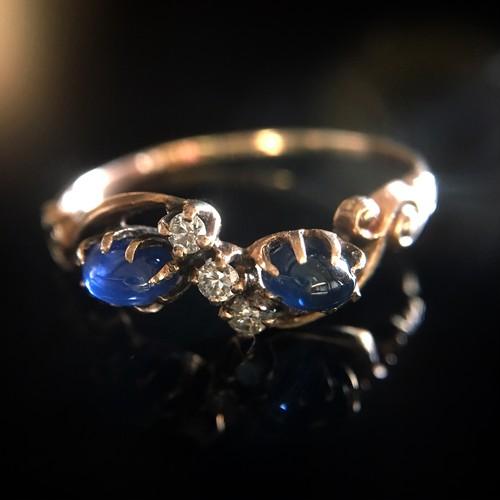 Victorian Sapphire & Diamond Gold Ring