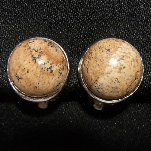 天然石イヤリング ユナカイトの石のリップイヤリング イヤリング激安セール通販   4302E
