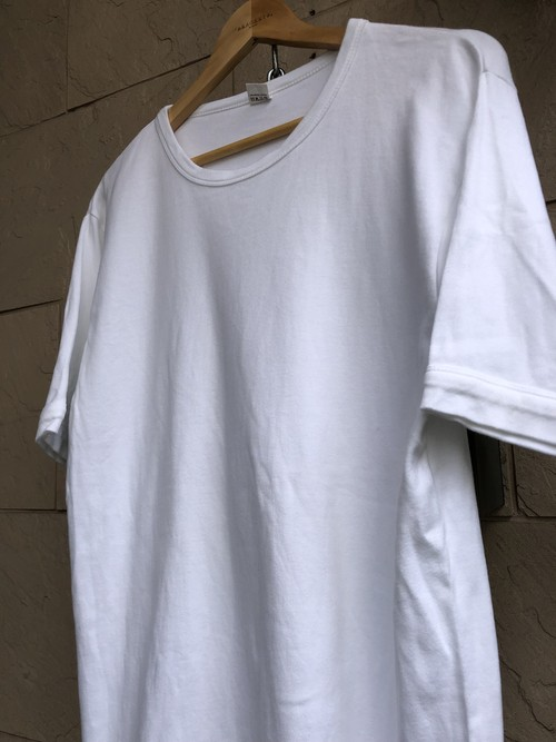 Old Belgium white cotton T-shirts