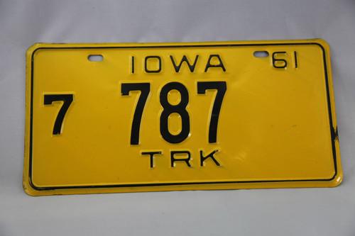 アメリカ ナンバープレートIOWA 7-787TRK  US Car License