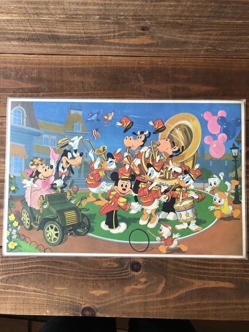 Disney Vinyl Place Mat ''Mickey&Friends'' / ランチョンマット プレースマット ミッキー ミニー 地図 map ビンテージ