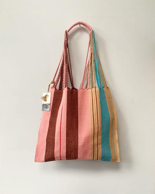 HAMMOCK BAG  L stripe pink