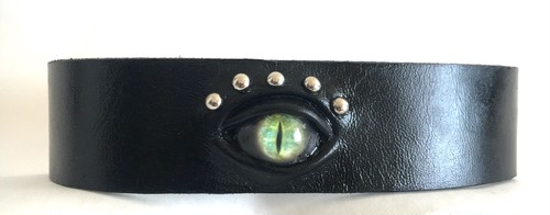 cat eye choker / green