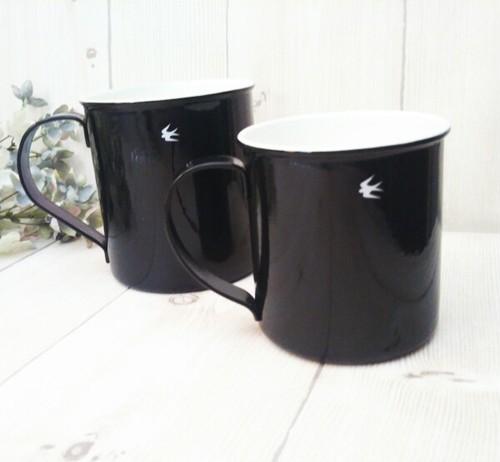 ツバメ ホーローマグカップ(L)