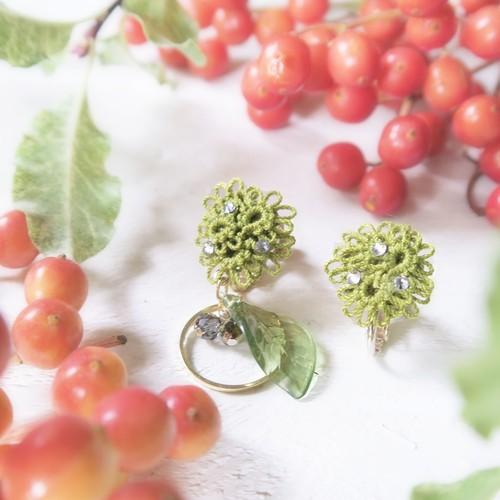【botanical:オリーブ】ピアスorイヤリング
