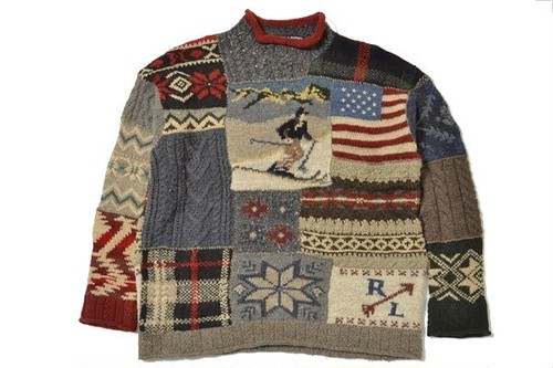 POLO SPORTS Ralph Lauren sizeM Nordic sweater/tops vintage polo