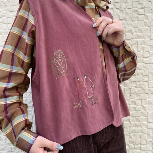 (LOOK) embroidery vest