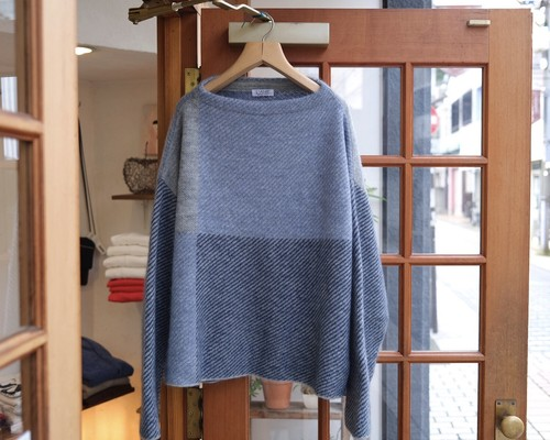 "L'ANIT""color combination knit L.Gray,L.blue,Navy"""