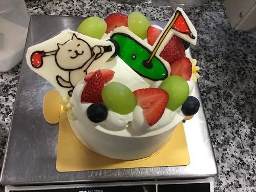 ホールショートケーキ4号サイズ 1キャラクターイラスト付き