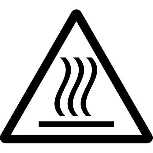 高温注意標識のカッティングステッカーシール