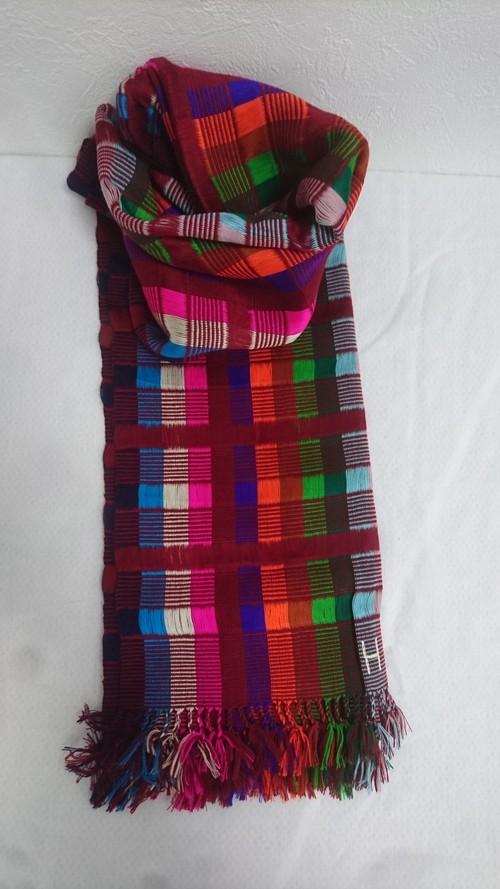 幸せの国ブータンから Taktshang Mandala (タクツァン マンダラ) ブータン手織りスカーフ ANA by KARMA