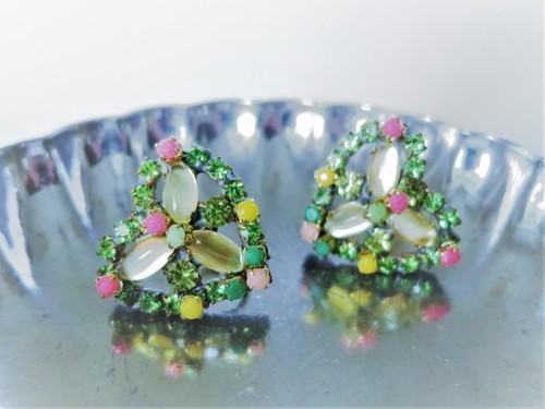 ヴィンテージビジューイヤリング ハート vintage earrings bijou <ER3-0420>