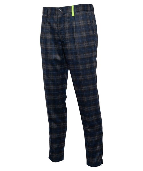 WOOL CHECK SLIM SLACKS[RUP004]