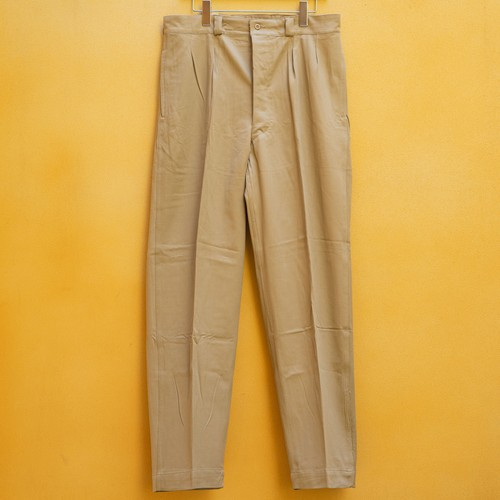 OLD FRENCH ARMY CHINO PANTS DEAD STOCK - 6