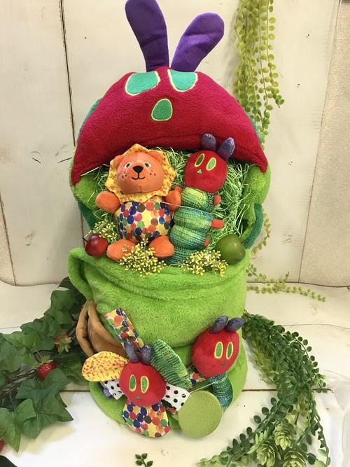 あったか はらぺこあおむし おむつケーキ  おむつケーキ  出産祝い ギフト オシャレ 個性的  かわいい  キャラクター