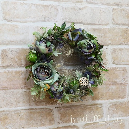 アーティフィシャルフラワー jyuri_ff_diary wreath 01