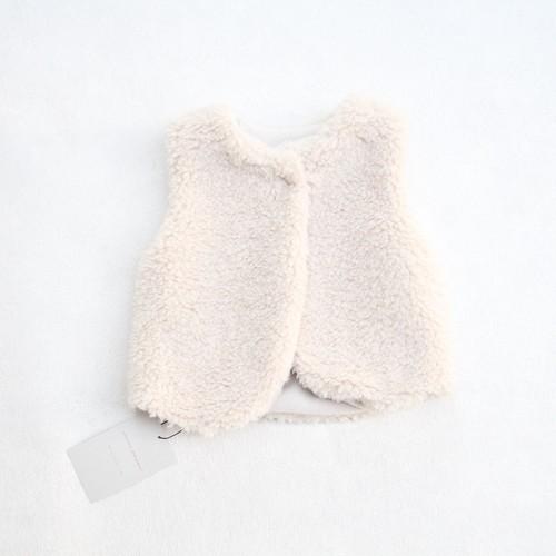 mimi poupons(ミミプポン)/リバーシブルボアベスト/Off-White(オフホワイト)/(S/M)
