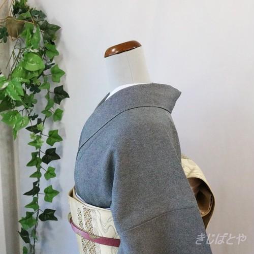 正絹 黒地の江戸小紋極鮫 紋入り 作家物