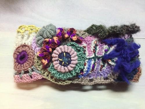 freeform crochet ヘアバンド