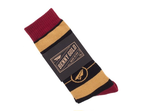 BENNY GOLD BULLEYE SOCKS BLACK