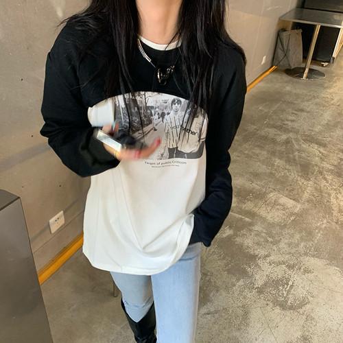 ショートトップス+フォトプリントTシャツセット RD8131