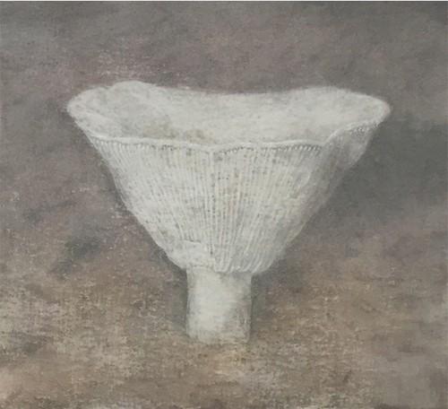 untitled , 三月の水 mushroom/絵画 日本画