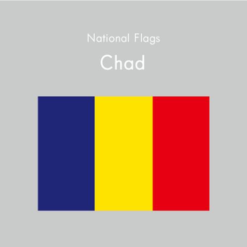 国旗ステッカー チャド