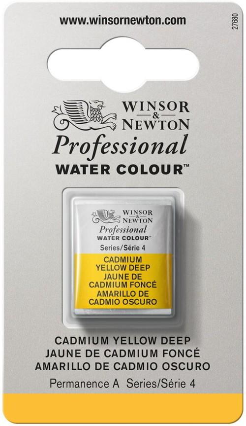 W&N PWC カドミウム イエロー ディープ[ 111 | s4 ハーフパン ]