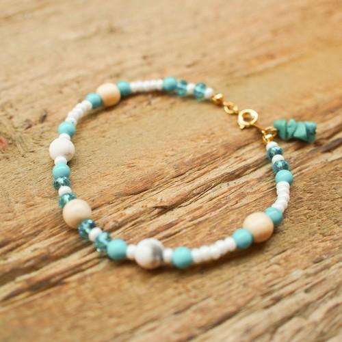 【Howlite】×【Turquoise】Bracelet