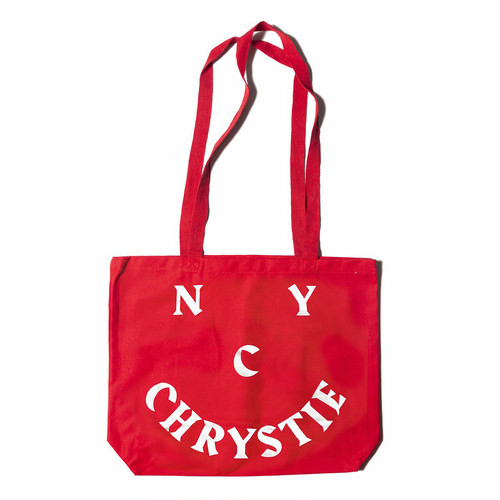 CHRYSTIE NYC(クリスティー ニューヨーク) / CHRYSTIE SMILE LOGO TOTEBAG -RED-