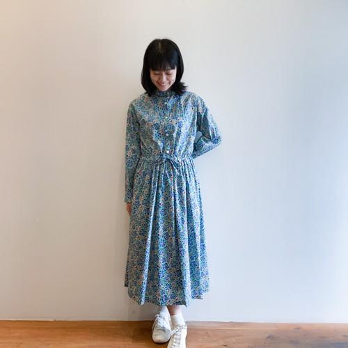 C-71132【Charleston Posy】 Liberty Mao Collar Dress