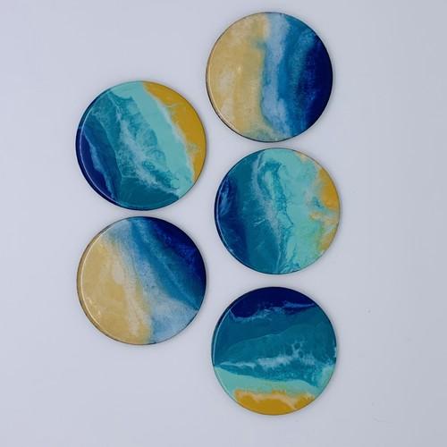 海のコースター 5個セット(No.2)