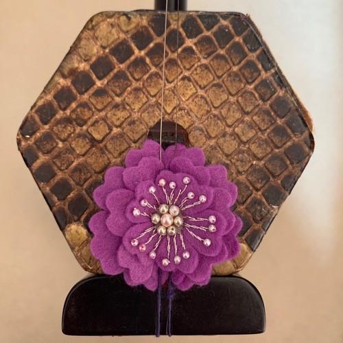紫のお花のコントロールマスコット【PS001】