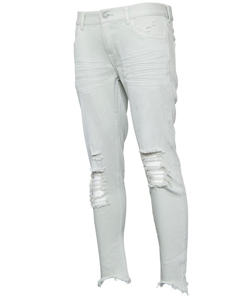 VINTAGE CRUSH CUT COLOR SKINNY PANTS[REP073]