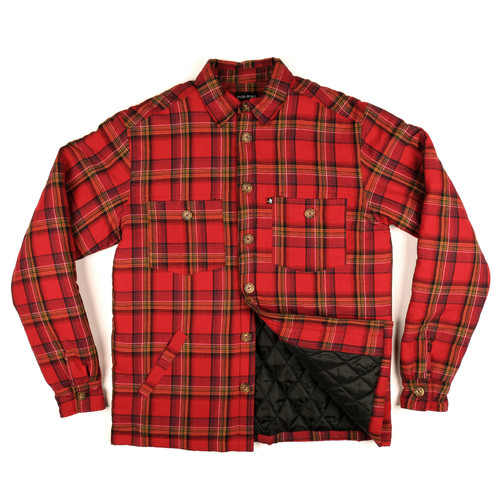 PASS PORT / LATE QUILTED FLANNEL JACKET -RED-