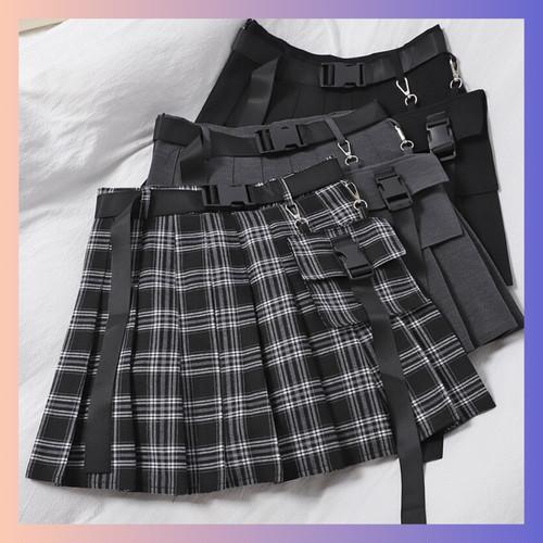 【お取り寄せ】ガーリィ ポーチ付き キュロットスカート 3種