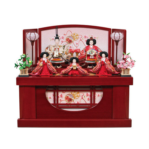 ひな人形<収納飾り>彩