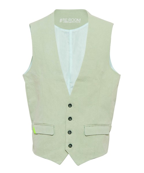 COTTON SLIM GILLET[RUJ015]