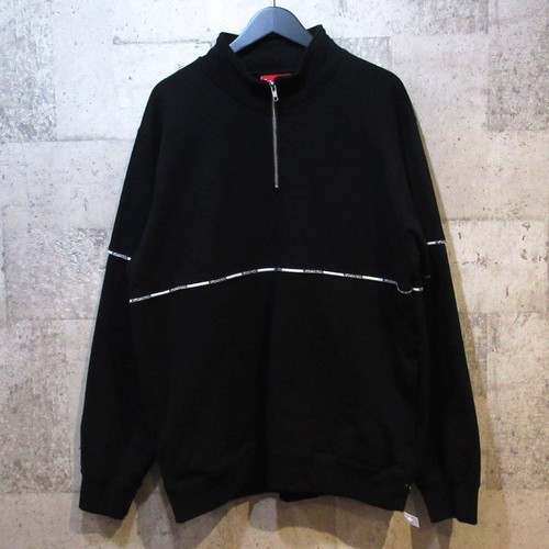 SUPREME 18SS Logo Piping Half Zip Sweatshirt