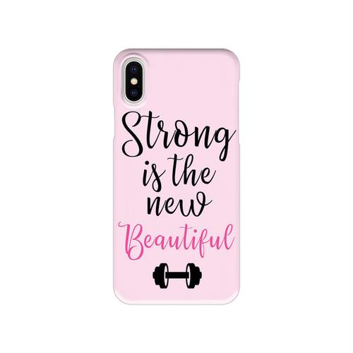 メッセージスマホケース【Strong is the new Beautiful】