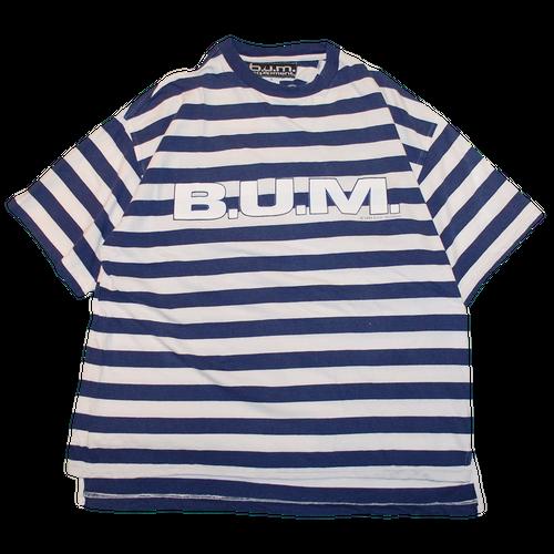 """""""90s B.U.M. equipment"""" Vintage Stripe T Shirt Used"""