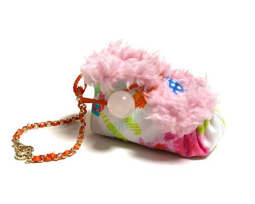 バッグチャーム ちいさなボアブーティ ピンク