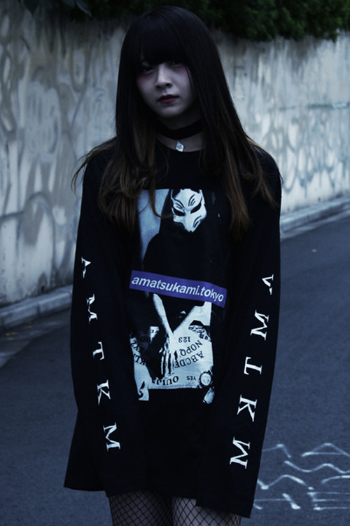 「狐繰/Ouija」Long T-shirts Black