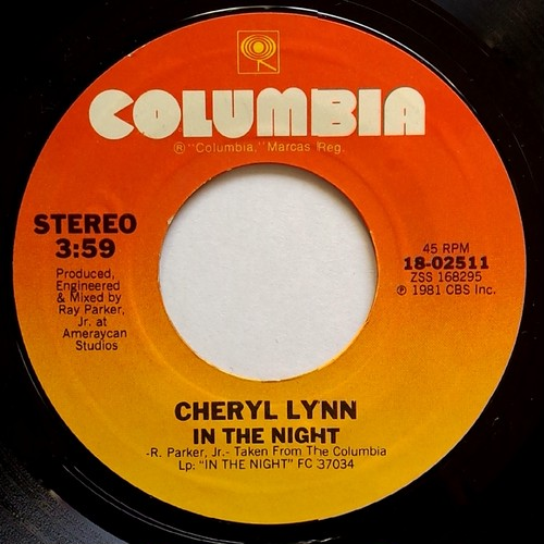Cheryl Lynn - In The Night / If You'll Be True To Me