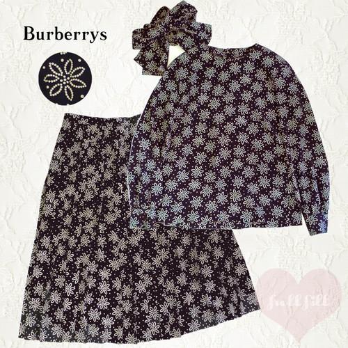 Burberrys スカーフ付きセットアップ(ネイビー)