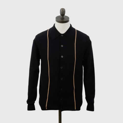 "Art Gallery Clothing | Knitted Collared Cardigan ""Mittoo"" - Black"
