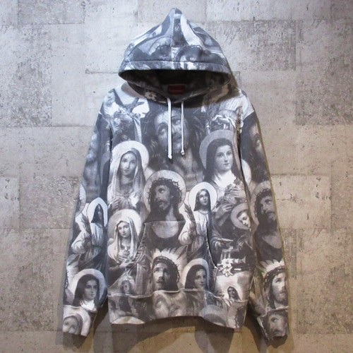 SUPREME 18AW Jesus and Mary Hooded Sweatshirt