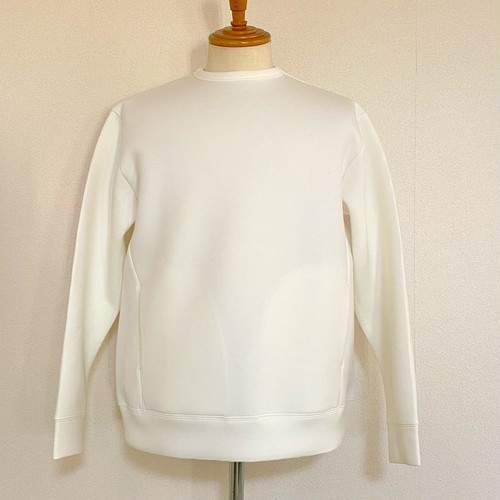 Double Knit Crewneck Sweat Pullover Off White